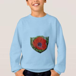 Red Anemone Coronaria Kids' Sweatshirt
