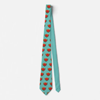 Red Anemone Coronaria Neck Tie