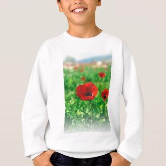 Red Anemone Coronaria Sweatshirt