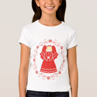 Red Angel and Stars T-Shirt