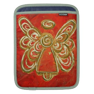 Red Angel Art Painting iPad Computer Sleeves