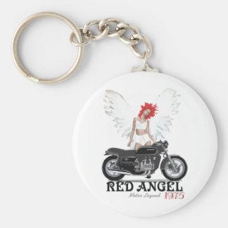 Red Angel Cafe Racer Motor Legend Keychain
