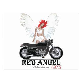 Red Angel Cafe Racer Motor Legend Post Card
