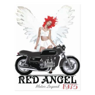 Red Angel Cafe Racer Motor Legend Postcards