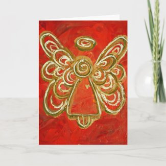 Red Angel Greeting Card or Notecards