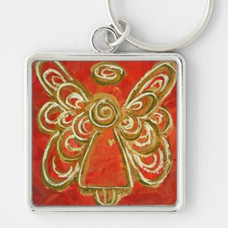 Red Angel Keychain