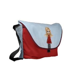Red Angel Pixel Art Messenger Bag