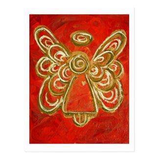 Red Angel Postcard