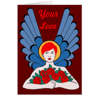Red Angel Roses Greeting Card