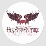 Red Angel Wings - Hardcore Couture Round Stickers