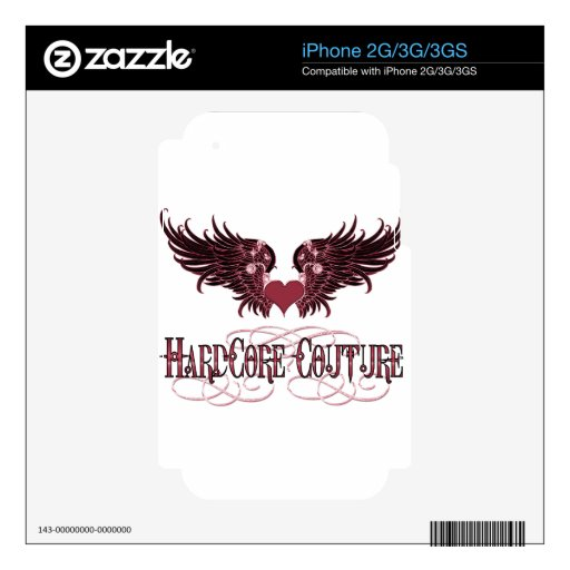 Red Angel Wings - Hardcore Couture Decals For iPhone 3G