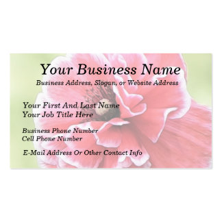 Red Angel's Choir Poppy Business Cards