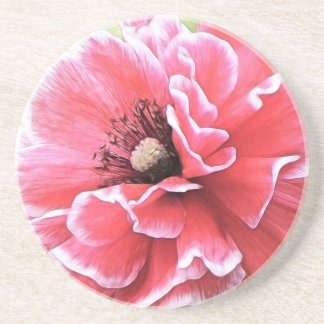 Red Angel's Choir Poppy Coasters