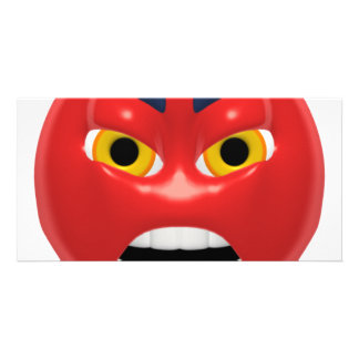 red angry smiley card