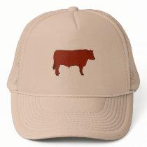 Red Angus Bull Trucker Hat