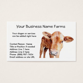 Red Angus Cow Business Card Template
