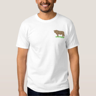 Red Angus Embroidered T-Shirt