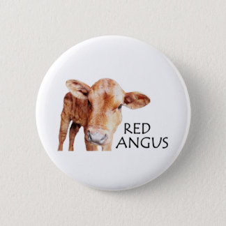 Red Angus Pinback Button