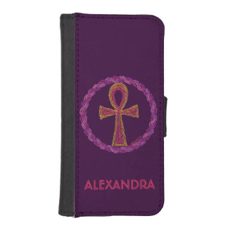Red Ankh Ancient Egypt Wicca Art Phone Wallet