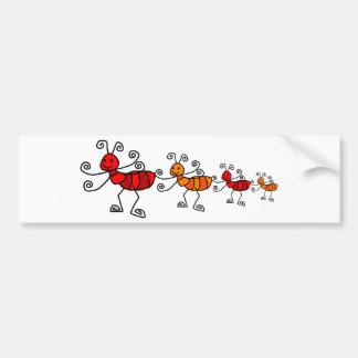 Red ant bumper sticker