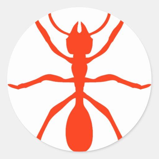 red ant classic round sticker