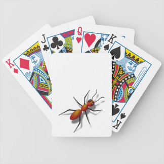 Red Ant Crawling Bicycle Playing Cards