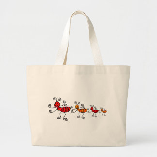 Red ant large tote bag