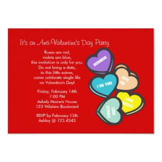 Red Anti-Valentine's Day Party Invitation