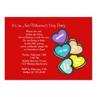 Red Anti-Valentine's Day Party Invitation