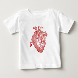Red Antique Anatomical Heart Baby T-Shirt