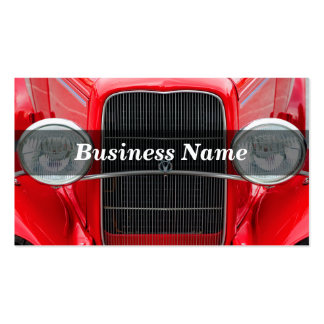 Red Antique Car Business Card Templates