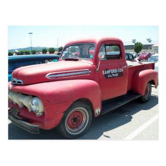Red Antique Truck Postcard