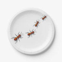 Red Ants at Your Picnic Paper Plate
