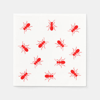 Red Ants Backyard Picnic Funny Paper Napkin