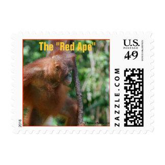 Red Ape Borneo Wildlife Postage