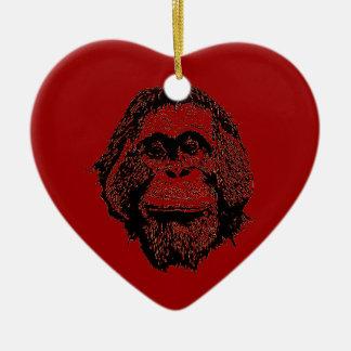 Red Ape Holidays Ceramic Ornament