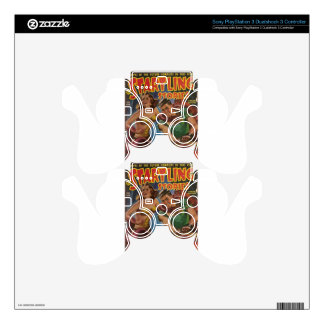 Red Ape Men in Chains PS3 Controller Skin
