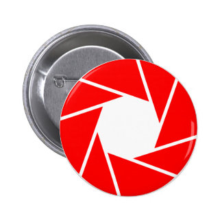 Red Aperature Pinback Button