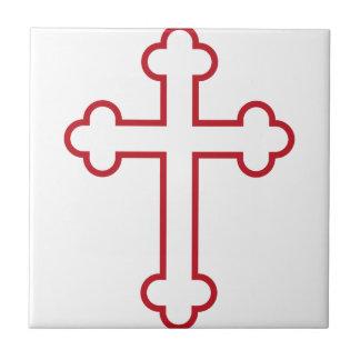 red apostles cross or budded cross tiles