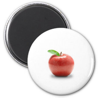 Red Apple 2 Inch Round Magnet
