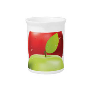 Red apple among green apples drink pitcher