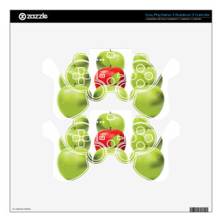 Red apple among green apples PS3 controller decals