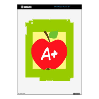 RED APPLE APLUS GRADES SCHOOL EDUCATION TEACHING DECAL FOR iPad 2