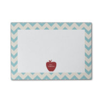 Red Apple Blue Chevron Teacher Post-it® Notes