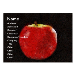 Red apple large business cards (Pack of 100)