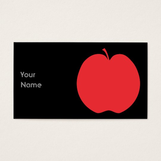 Red Apple. Business Card