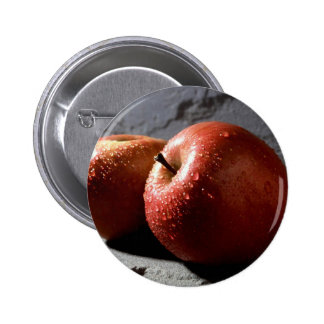 Red Apple Pinback Button