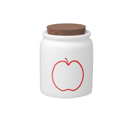 Red Apple. Candy Jars