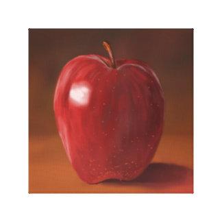 Red Apple Canvas Still Life