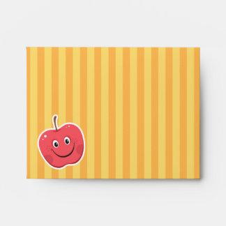 Red apple cartoon character envelope